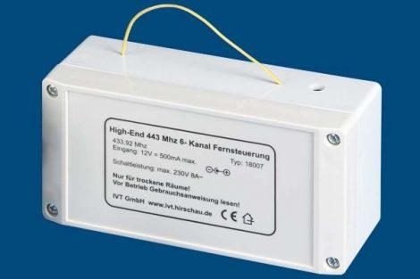 6-csatornás 433 MHz-es távirányító vevő