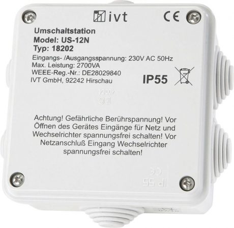 Automata átkapcsoló inverter és hálózat között, US-12N