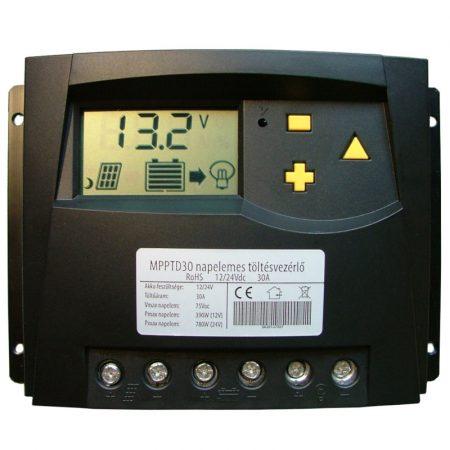 MPPT30D napelemes szabályozó 30A