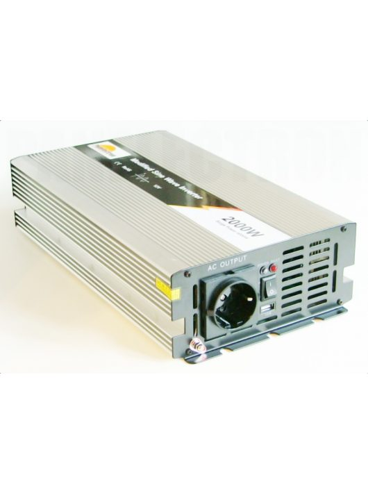 MW-2000-12 2000W-os módosított szinusz inverter 12V-os bemenettel