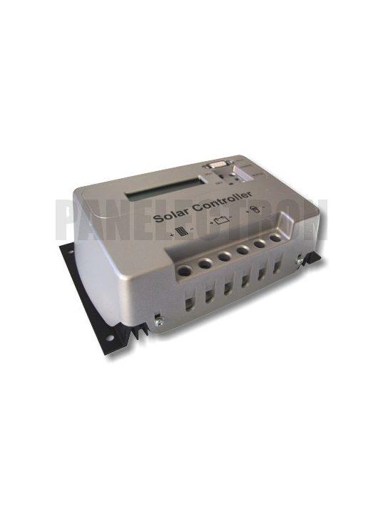 PSCD10 Napelemes szabályozó 10A LCD kijelzővel