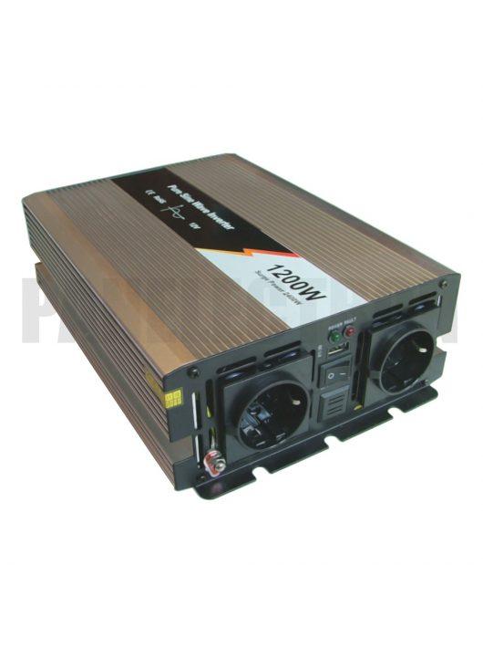 EcoSine SWE-1200-12 1200W tiszta szinusz inverter 12V