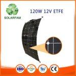 120W-os ETFE hajlítható flexibilis napelem