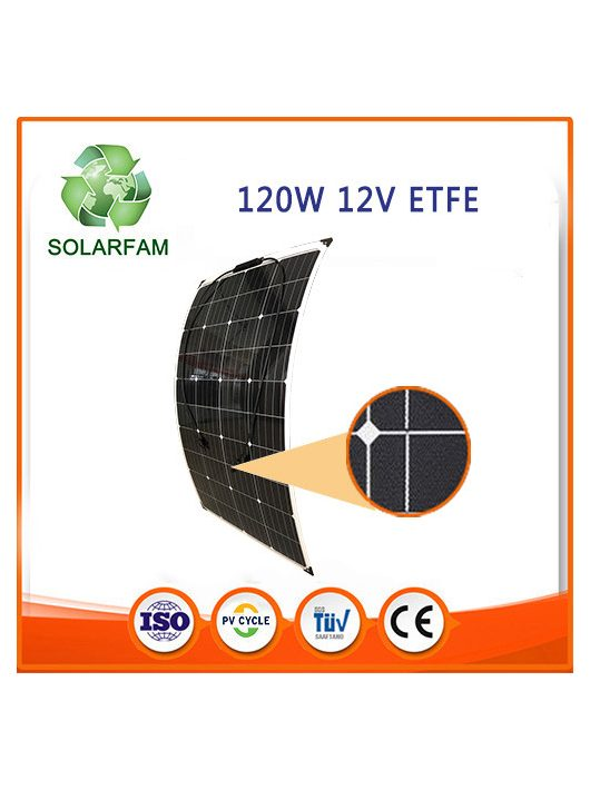 120W 12V ETFE hajlítható flexibilis napelem