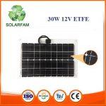 30W-os ETFE hajlítható flexibilis napelem