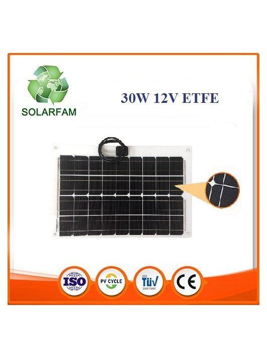 30W 12V ETFE hajlítható flexibilis napelem