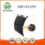 50W-os ETFE hajlítható flexibilis napelem