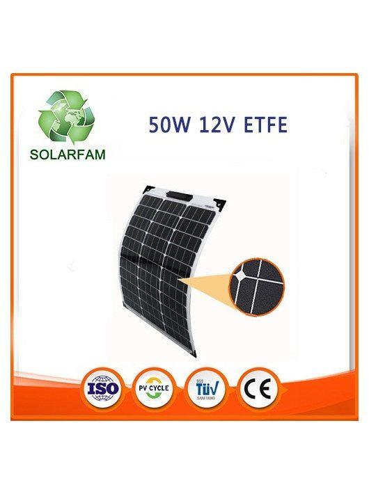 50W 12V ETFE hajlítható flexibilis napelem