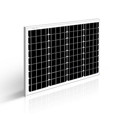 50W 12V monokristályos napelem alumíniumkerettel