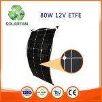 80W-os ETFE hajlítható flexibilis napelem