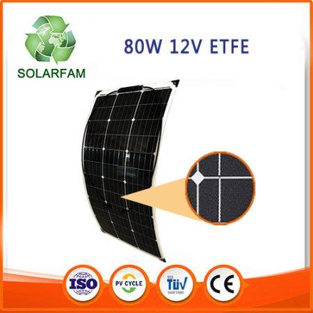 80W 12V ETFE hajlítható flexibilis napelem